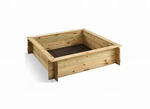 Bac à Sable Bois : bac sable en bois carr jardipolys couvercle jardideco ~ Premium-room.com Idées de Décoration