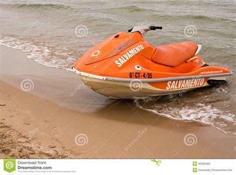 Fast Boat Orange Beach by Rescue Jet Ski Boat Editorial Image Image Of Fast Orange