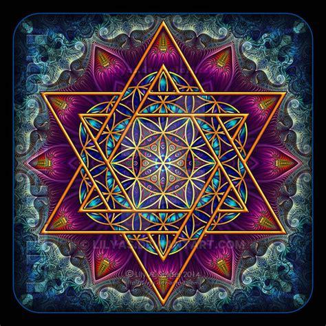 Flower Of Life Fractal Star Of David By Lilyas On Deviantart