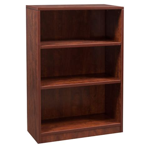 Cherry Bookcase by Everyday 48 In 3 Shelf Laminate Bookcase Cherry