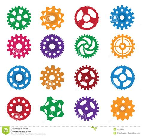 simple vector gears royalty  stock images image