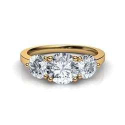past present future engagement ring 3 past present future trilogy engagement ring in 14k gold