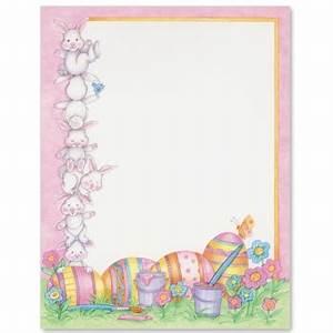 Easter Bunnies Letter Paper | Idea Art