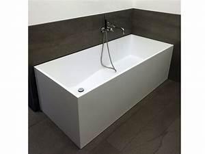 Frei Stehende Badewanne : freistehende badewanne firenze aus mineralguss wei matt oder gl nzend 170x72x55 eckig ~ Udekor.club Haus und Dekorationen