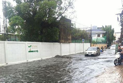 ฝนตกหนักทำน้ำท่วมป่วนกรุงอีกรอบ | Sapparot.co
