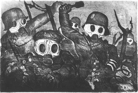 Otto Dix Artwork by Stormtroopers Go Ahead Into The Gas Assault Under Gas By