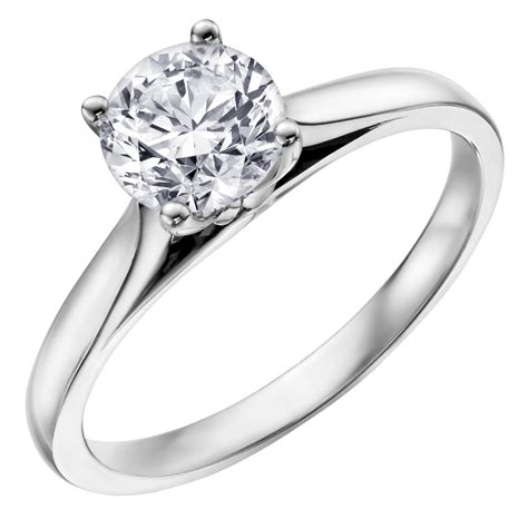 white gold platinum 18ct 4 claw engagement ring