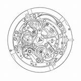 Primero El Zenith Watchtime Modern Eye Guy Watches Caliber Drawing Clock Calendar Annual Watchbase Winsor Craft sketch template