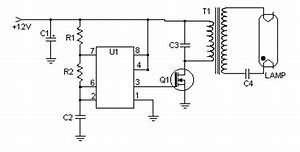 4w 12v fluorescent lamp driver inverter circuit and products With cfl lamp circuit