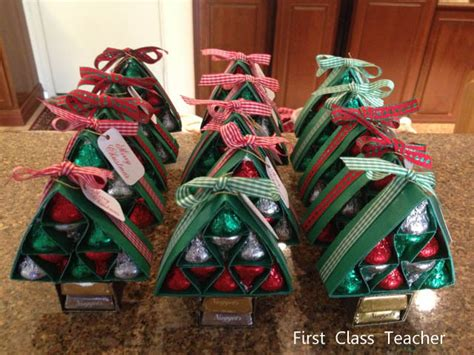 first class teacher hershey kisses christmas tree gifts