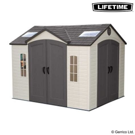 lifetime 10x8 shed assembly lifetime 10x8 dual entry shed 60001