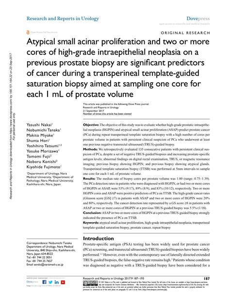 transperineal stereotactic template guided saturation prostate biopsy pdf atypical small acinar proliferation and two or more
