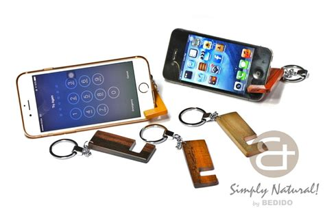 iphone keychain smart phone wood stand keychain iphone android bedido