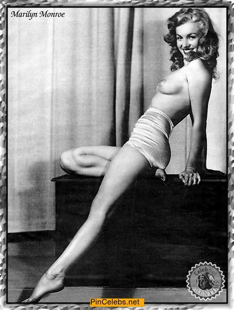 Marilyn Monroe Topless Black White Photo Kcleb