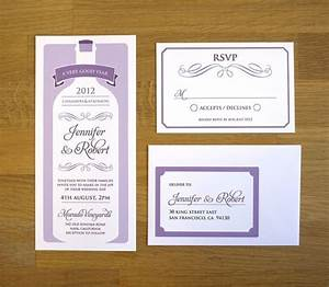 28 best invitations images on pinterest winery wedding for Modern winery wedding invitations