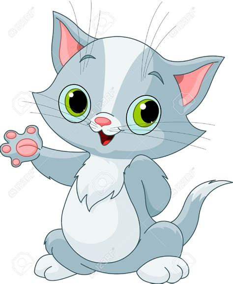 Kittens Clipart Cute Cartoon  Pencil And In Color Kittens