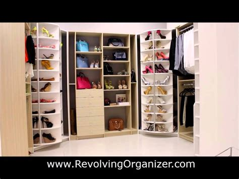 Revolving Closet by Closet Organizer In A Walk In Closet Revolving Shoe Rack