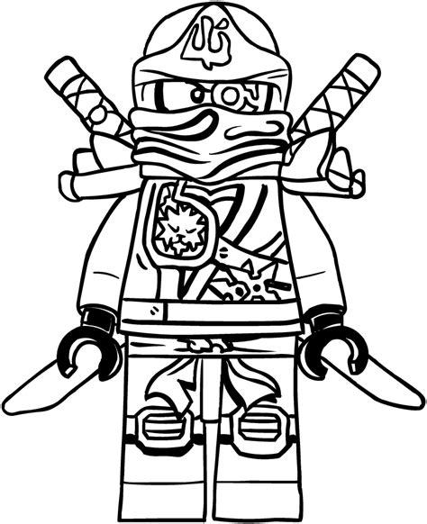 dibujo de zane de los ninjago  colorear
