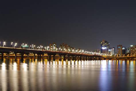 han river night view  photo  pixabay
