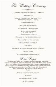 wedding programs wedding program wording program samples With wedding ceremony program examples