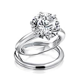 cz wedding ring sets 3 5ct solitaire cz engagement wedding ring set