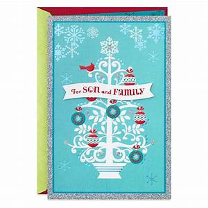 Love You So Much Christmas Card For Son And Family