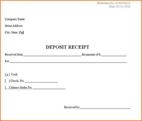 down payment receipt form 7 down payment receipt budget template letter