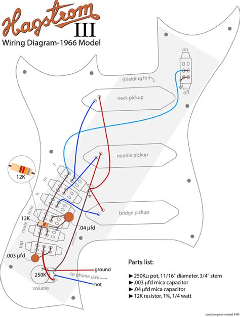 hagstrom guitar wiring diagram hagstr 246 m schematics