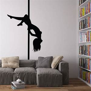 pole dancer vinyl wall art decal by vinyl revolution With vinyl wall decor