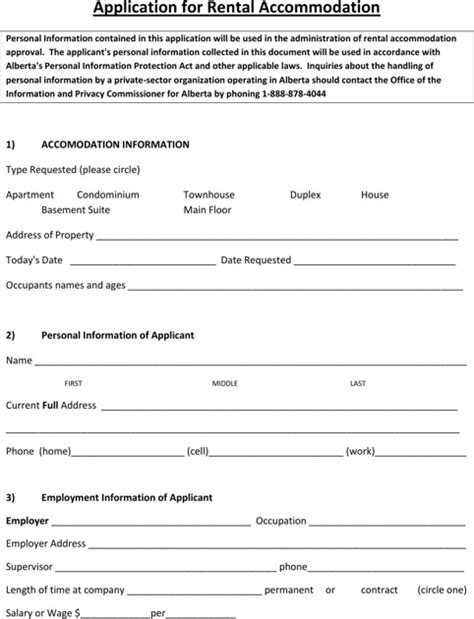 Download Alberta Rental Agreement for Free - FormTemplate
