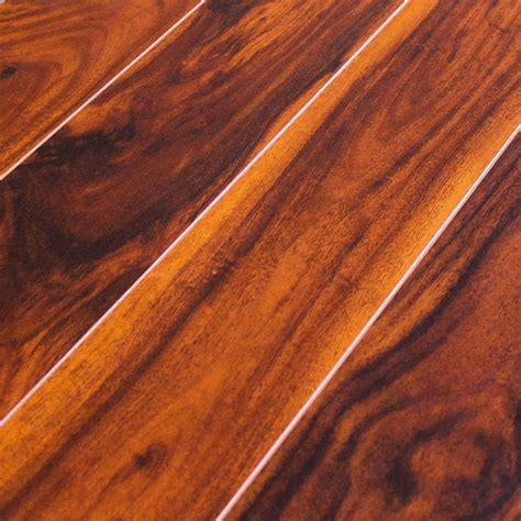 tigerwood laminate inhaus exotics tigerwood 8mm laminate flooring sle tropical laminate flooring by