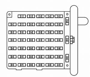 Ford E-series E-150 E150 E 150  1998 - 2001   U2013 Fuse Box Diagram