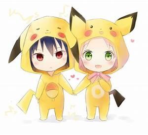 Chibi pikachu Sasuke and Sakura | ♡ A r t | Pinterest