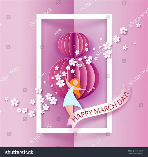 card  march women day abstract stock vector