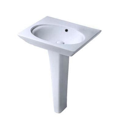 pegasus pedestal sink home depot pegasus bali 19 in pedestal combo bathroom sink for 8 in