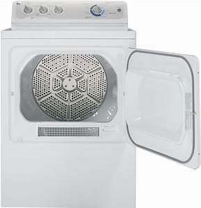 Ge U00ae 7 0 Cu  Ft  Capacity Dura Drum Electric Dryer With He