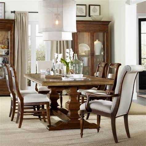 furniture archivist 7 dining set with trestle