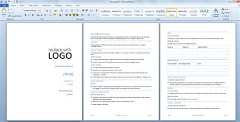 microsoft word report templates due diligence template for word 2013