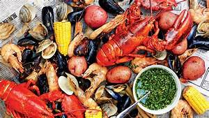 Shellfish Boil with Spicy Green Dipping Sauce Recipe Bon