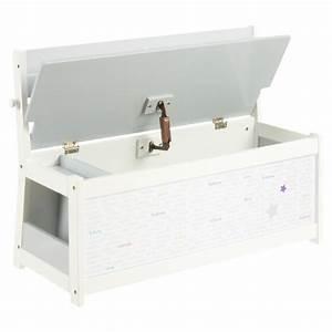 Banc Coffre A Jouet : banc coffre jouet mixte 78cm blanc ~ Teatrodelosmanantiales.com Idées de Décoration