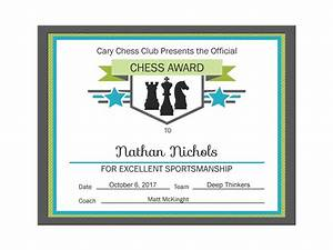 Editable Pdf Sports Game Team Chess Certificate Award Template In 3