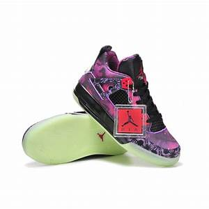 Women Air Jordan 4 Purple Glow in the dark Limited Edition ...