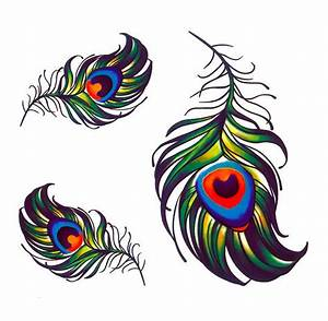 Small Peacock Feather Tattoo Design