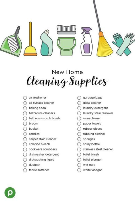 cleaning checklist new home essentials apartment