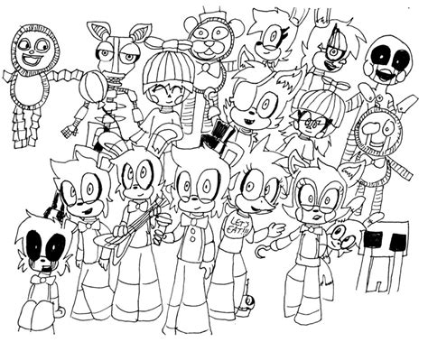 disegni da colorare animatronics fnaf all animatronics free coloring pages