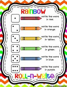 25 best ideas about rainbow writing on pinterest With rainbow writing spelling words template