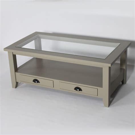 plateau d angle pour bureau table basse bois massif taupe avec plateau en verre made