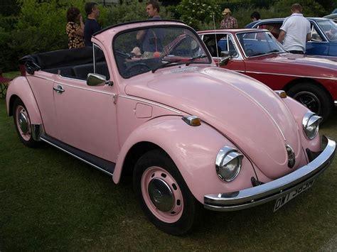 pink convertible volkswagen pink beetle bug car