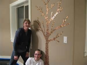 Family Tree Made with Pennies