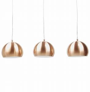 Suspension Boule Cuivre : suspension triple boule pendul cuivr es lustre design ~ Teatrodelosmanantiales.com Idées de Décoration